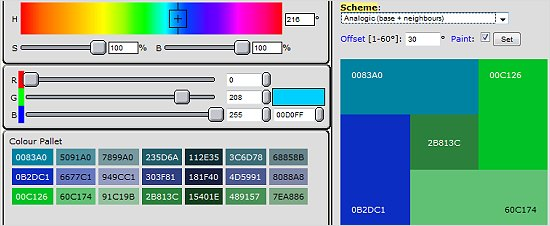 Sitepro Central Colour Scheme Chooser