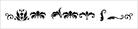 Damask Dingbats
