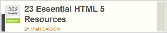 23 Essential HTML 5 Resources