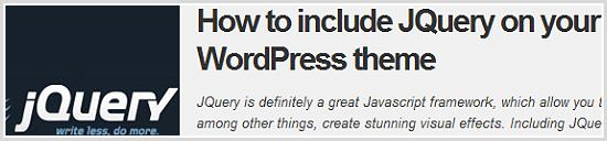 How to include JQuery on your WordPress theme